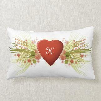 Flourish del corazón almohadas
