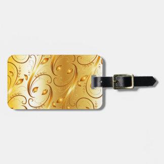Flourish del oro etiquetas maletas