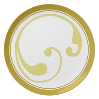 Flourish del oro platos de comidas
