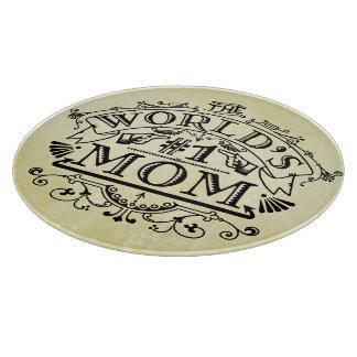 Flourish del vintage de la mamá del número uno del tabla para cortar