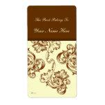 Flourish del vintage (marrón claro) etiquetas de envío