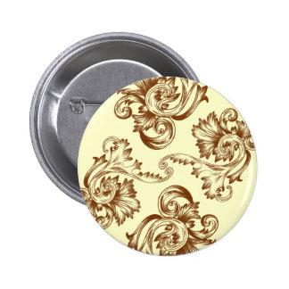 Flourish del vintage (marrón claro) pin