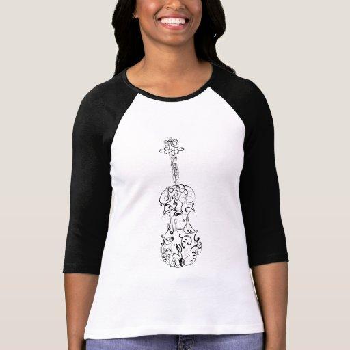 Flourish del violín camisetas