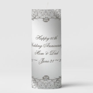 Flourish Diamond 60th Anniversary Pillar Candle