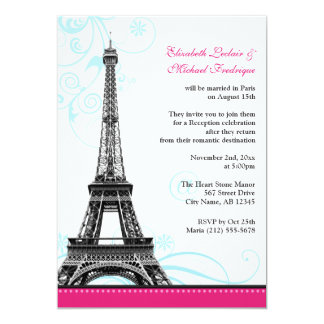 Flourish Eiffel Tower Parisian Reception ONLY Card