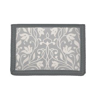 Flourish elegant girly minimal vintage pattern trifold wallet