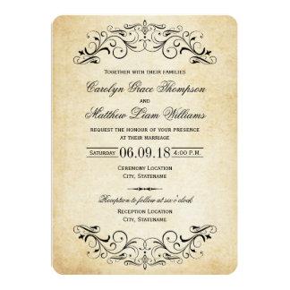 Flourish elegante de las invitaciones el | del invitaciones personalizada