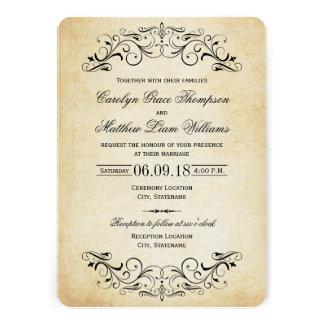 Flourish elegante de las invitaciones el del bod invitaciones personalizada