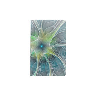 Flourish Fantasy abstract and modern Fractal Art Pocket Moleskine Notebook