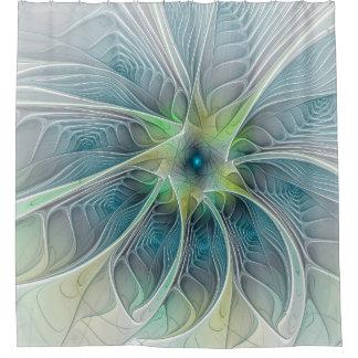 Flourish Fantasy abstract and modern Fractal Art Shower Curtain