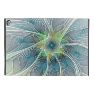 "Flourish Fantasy Modern Blue Green Fractal Flower iPad Pro 9.7"" Case"