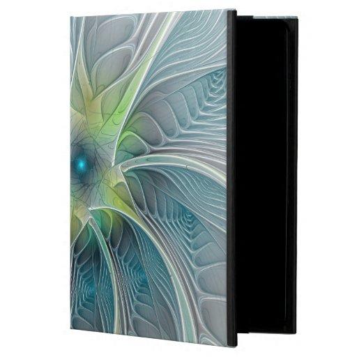 Flourish Fantasy Modern Blue Green Fractal Flower Powis iPad Air 2 Case