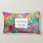 Flourish floral colorido abstracto hermoso de los  cojin