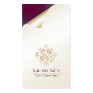 Flourish floral del oro de la tarjeta de visita