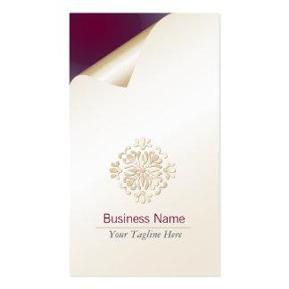 Flourish floral del oro de la tarjeta de visita de