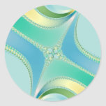 Flourish - Fractal Art Classic Round Sticker