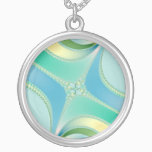 Flourish - Fractal Art Silver Plated Necklace