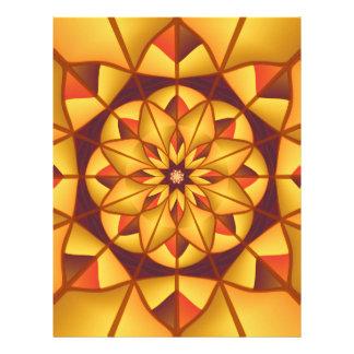"""Flourish geométrico de oro folleto 8.5"""" x 11"""""""