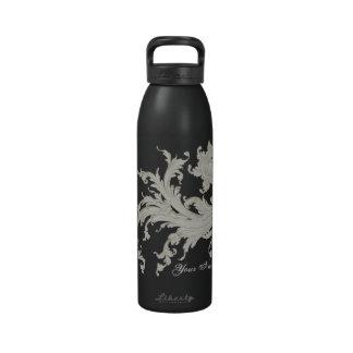 Flourish gráfico del vintage botella de agua