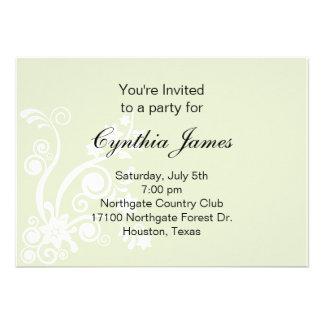 Flourish Green Invitation  (#INV 021)