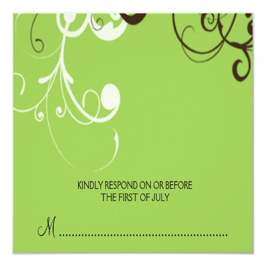 flourish; green reply card