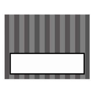Flourish gris negro blanco Stri de la tarjeta prog Postales