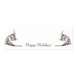 Flourish Happy Holidays Gift Tags Double-Sided Mini Business Cards (Pack Of 20)