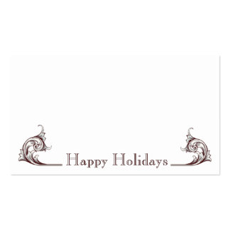 Flourish Happy Holidays Gift Tags Business Card