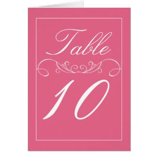 Flourish Modern Pink Wedding Table Number Cards
