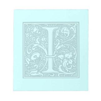 flourish monogram - I Note Pad