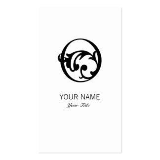 FLOURISH MONOGRAM  LETTER O WHITE BUSINESS CARD