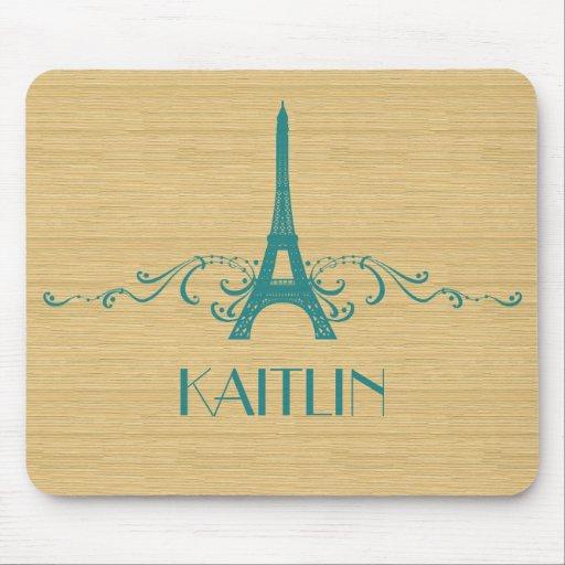 Flourish Mousepad del francés del trullo Tapete De Raton