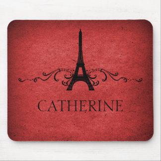 Flourish Mousepad del francés del vintage, rojo