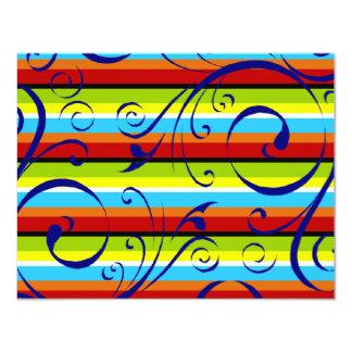 Flourish multicolor de la raya comunicado personalizado