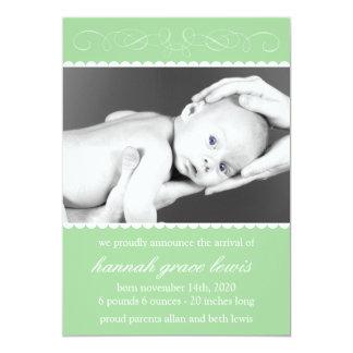Flourish New Baby Announcements (Green)