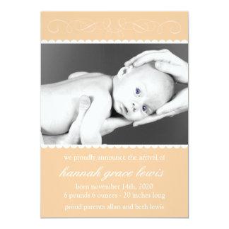 Flourish New Baby Announcements (Orange)