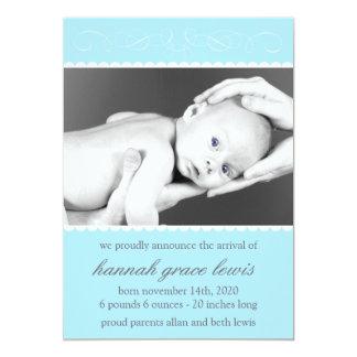 Flourish New Baby Announcements (Pale Blue)