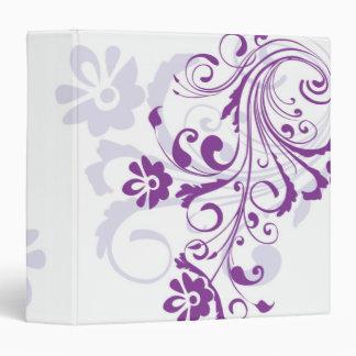"Flourish púrpura 1,5"" carpeta"