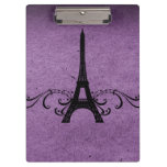 Flourish púrpura del francés del vintage
