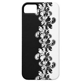 Flourish reverso blanco negro funda para iPhone 5 barely there
