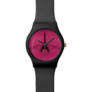 Flourish rosado del francés del vintage relojes de mano