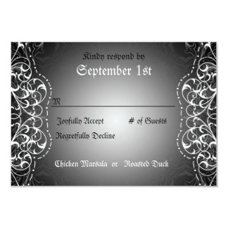 Flourish RSVP Bride & Groom Reception Cards Custom Invites