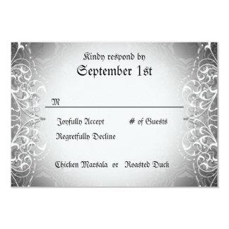 Flourish RSVP Bride & Groom Skeleton Dinner Cards Personalized Announcement