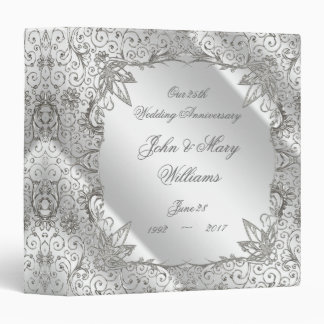 "Flourish Silver 25th Anniversary 1.5"" Binder"