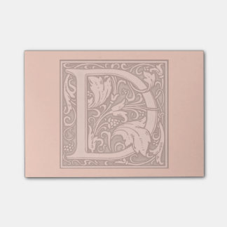 flourish silver monogram - D Post-it® Notes