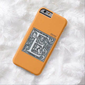 flourish silver monogram - E Barely There iPhone 6 Case