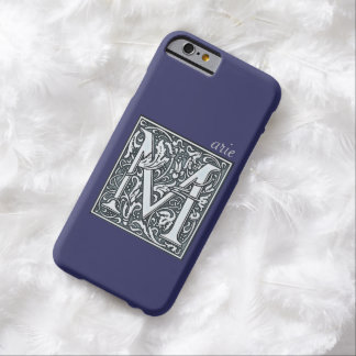 flourish silver monogram - M Barely There iPhone 6 Case