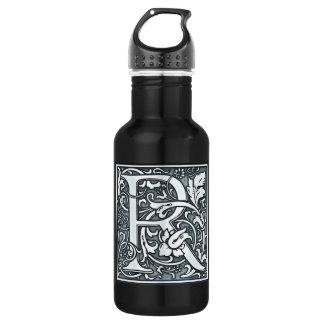 flourish silver monogram - S Water Bottle