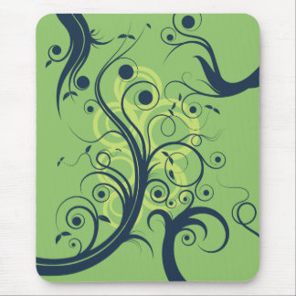 Flourish Swirls Mouse Pad
