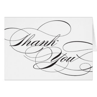 Flourish Thank You Reception Sign Stationery Note Card